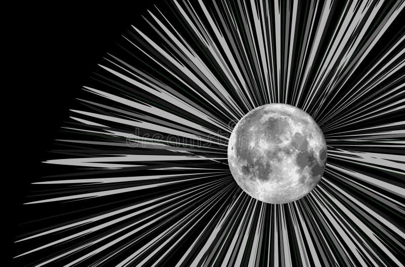 例证月亮光栅 库存例证