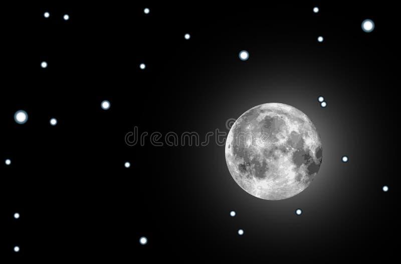 例证月亮光栅 皇族释放例证