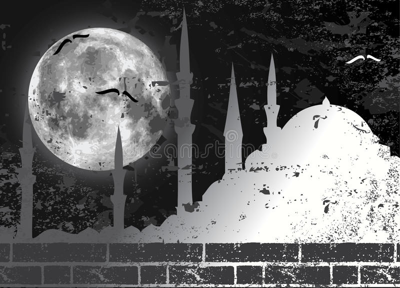 例证月亮清真寺光栅 库存例证