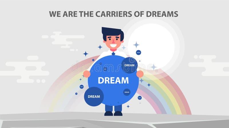 例证梦想商人载体  向量例证