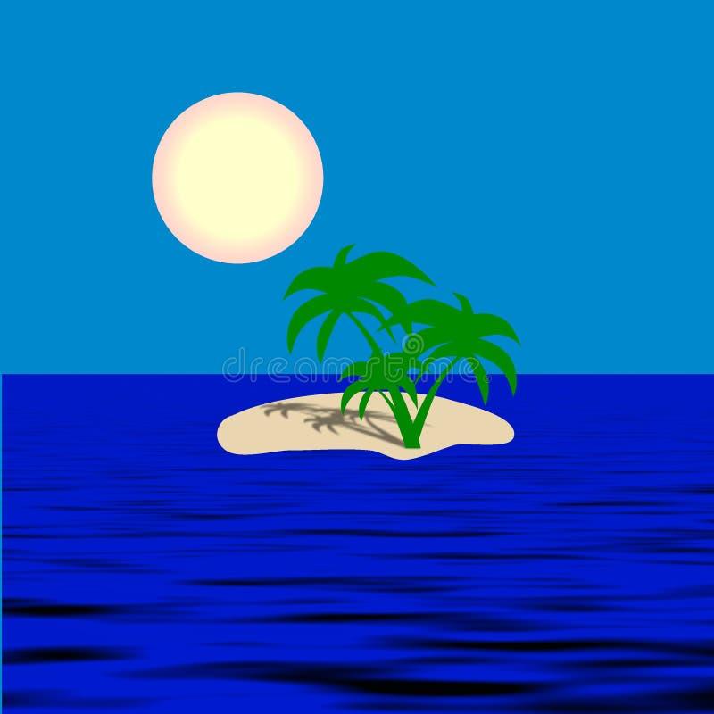 例证海岛星期日 向量例证