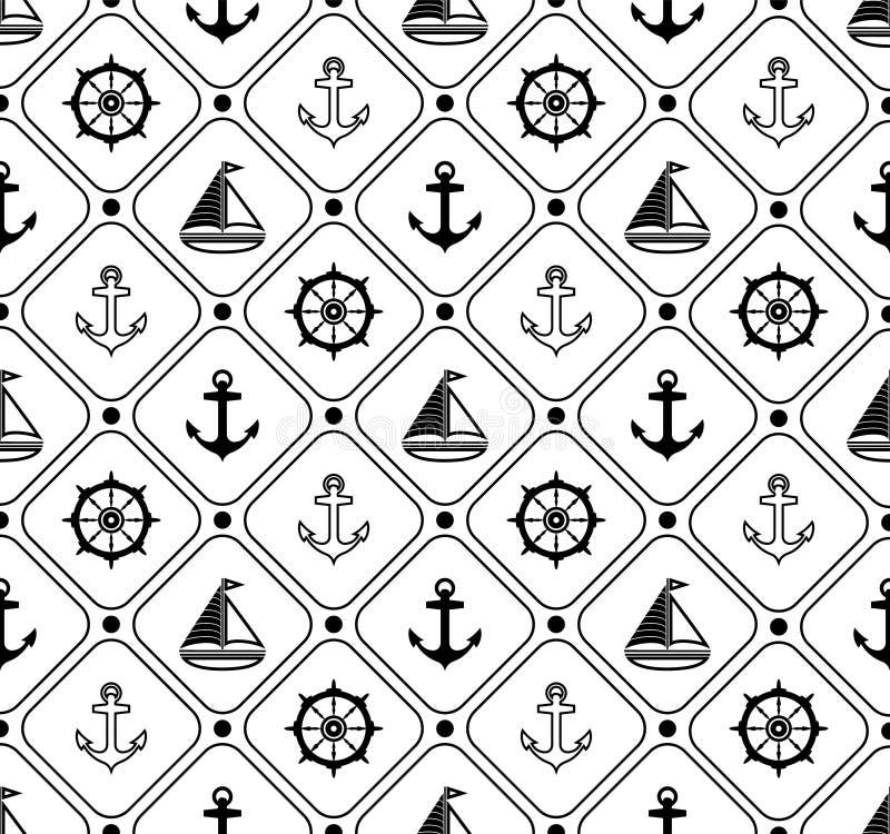 例证海洋模式无缝的向量 适用于墙纸,纸,装饰 向量例证