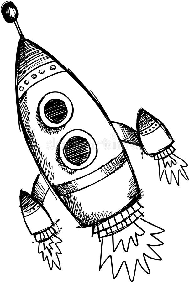 例证火箭概略向量 向量例证