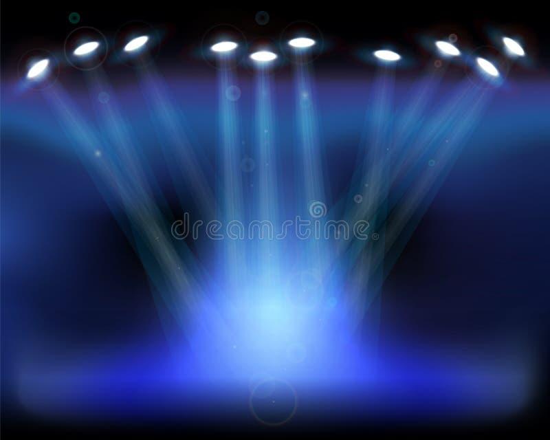 例证照明设备场面向量 库存例证