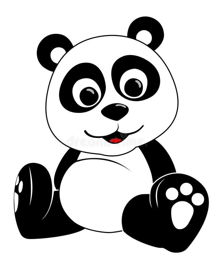 例证熊猫 皇族释放例证