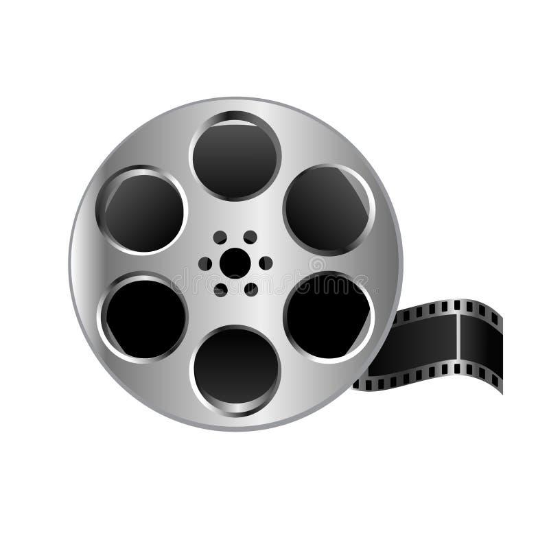 例证现实金属构造了在白色背景的影片轴录影 皇族释放例证