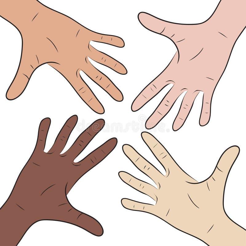 例证用人的手 向量例证