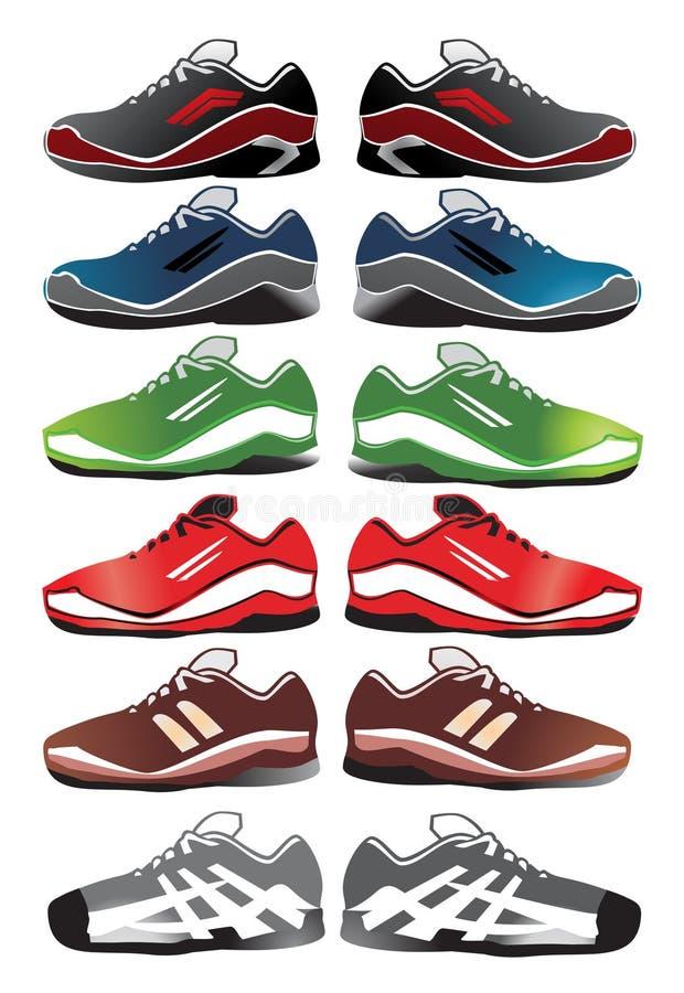 例证穿上鞋子体育运动 库存例证