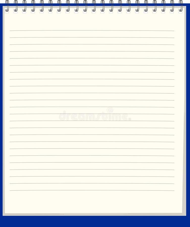 例证笔记本纯向量 皇族释放例证