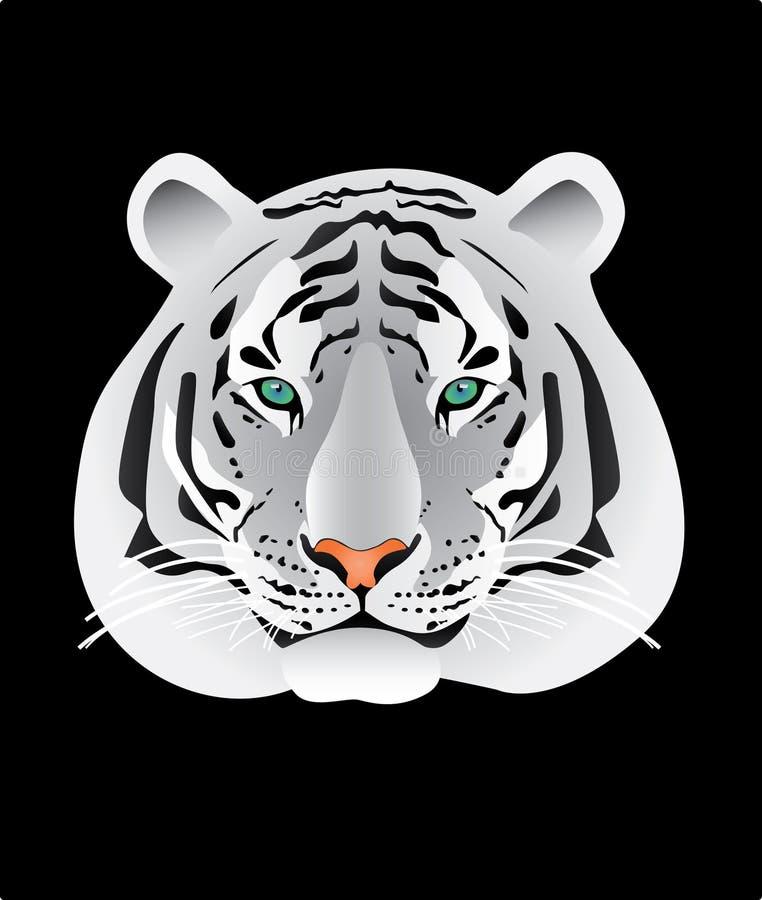 例证纵向老虎白色 库存照片