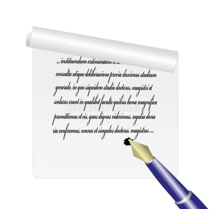 例证纸页向量 皇族释放例证