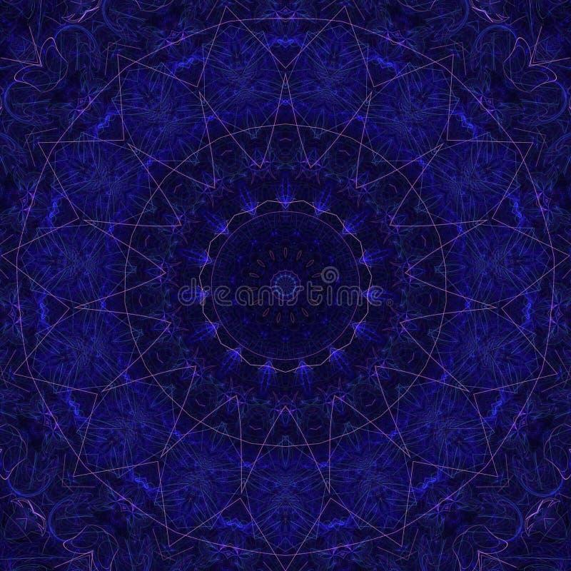例证荧光的分数维未来派几何五颜六色 皇族释放例证