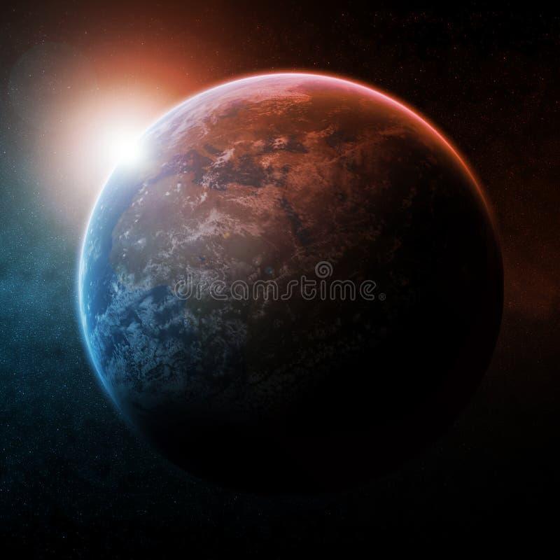 例证行星空间 向量例证