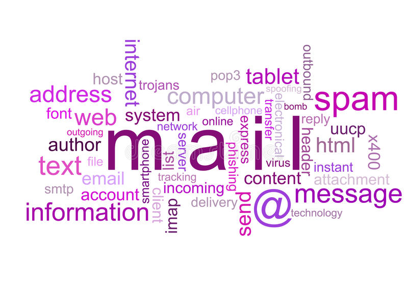 例证邮件 库存照片