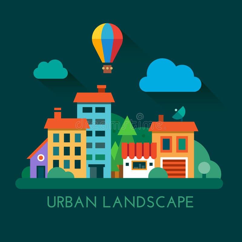 例证都市风景 向量例证