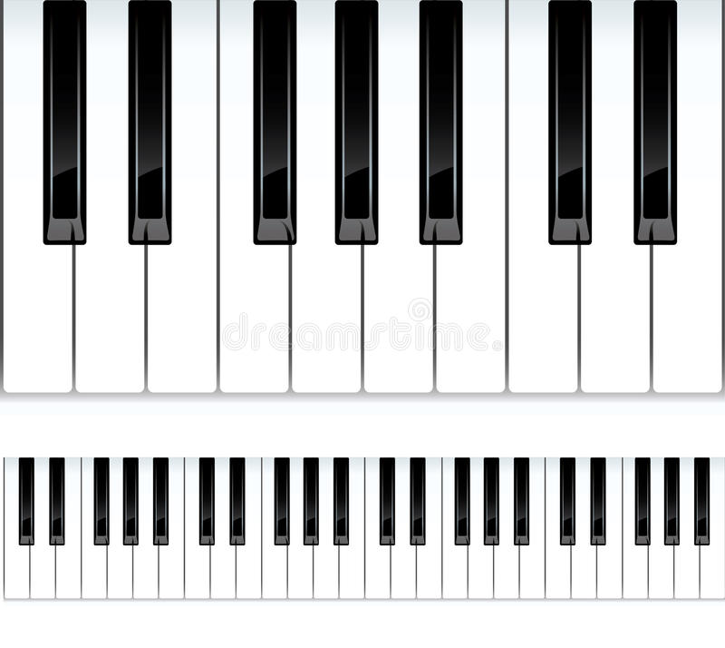 例证锁上无缝的钢琴 向量例证