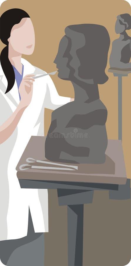 例证雕刻家 皇族释放例证