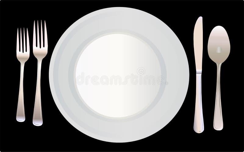 例证餐位餐具向量 皇族释放例证