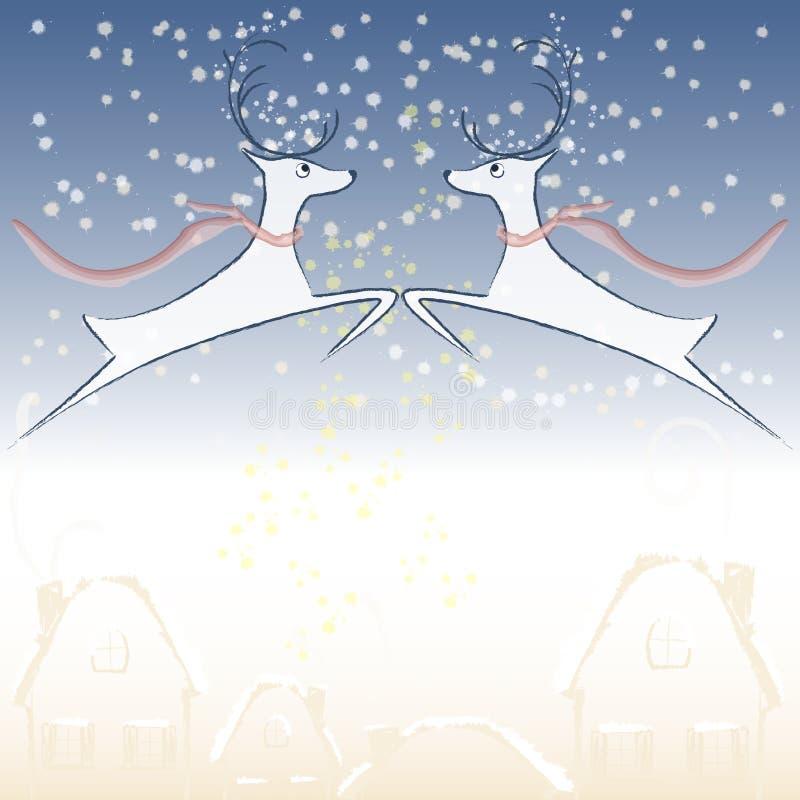 例证,冬天传说,鹿 向量例证