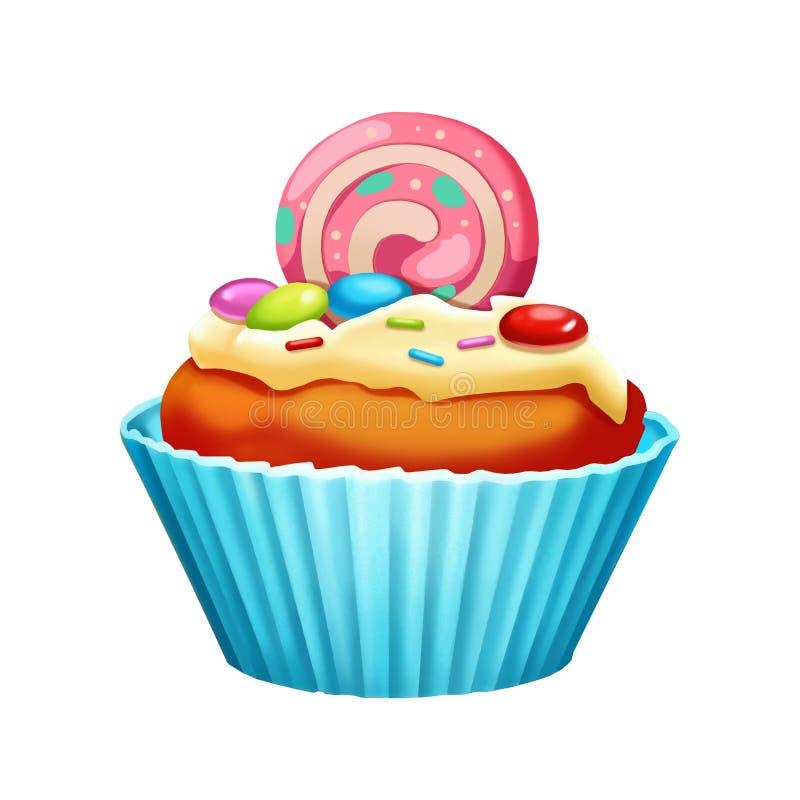 例证:元素集:蛋糕杯 库存例证