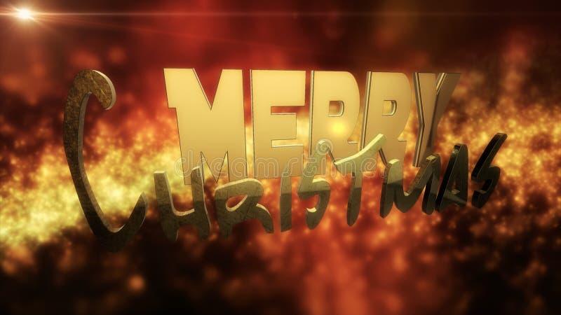 例证:圣诞快乐设计文本 库存照片