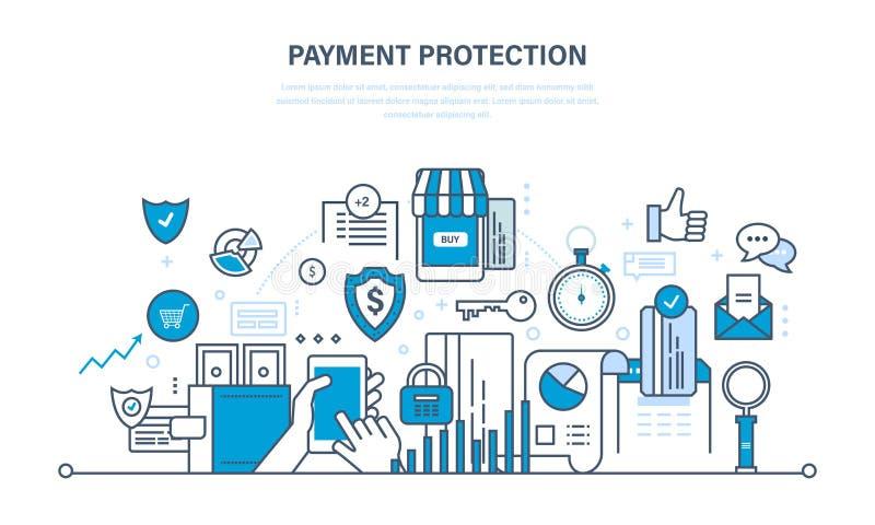 例证-保护,保证付款安全,财务,储蓄的概念 向量例证