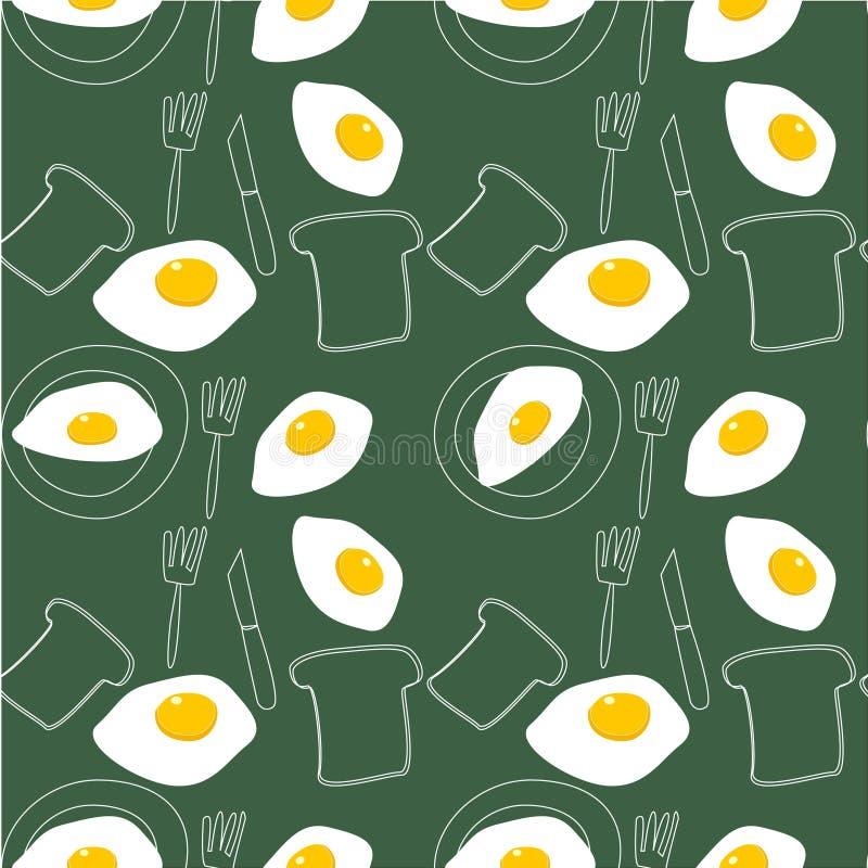 例证-煎蛋卷样式 库存例证