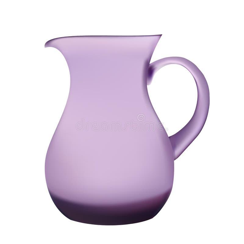 例证紫色玻璃投手汁液 库存例证