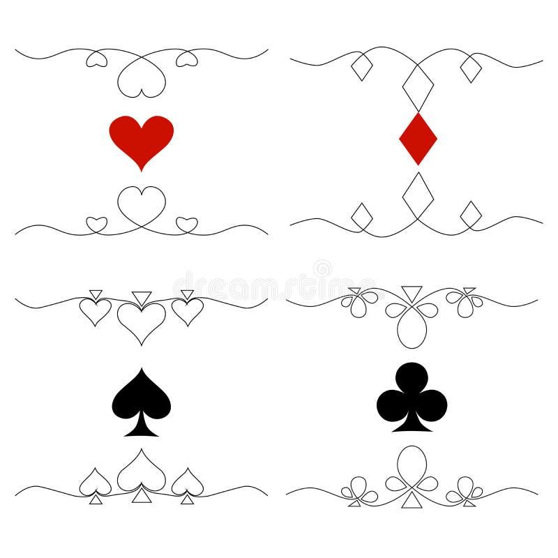 例证-设置与卡片标志的商标 皇族释放例证