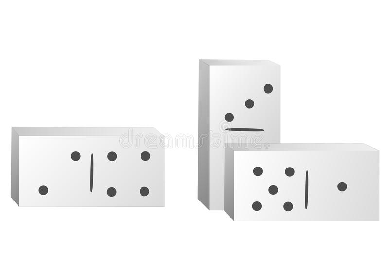 例证Domino 皇族释放例证