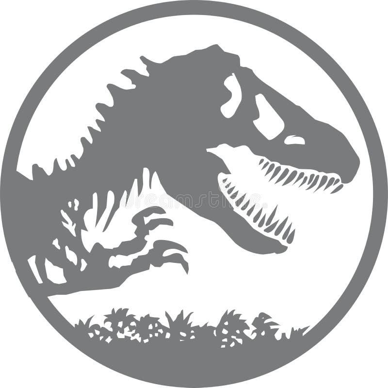 侏罗纪公园商标 向量例证