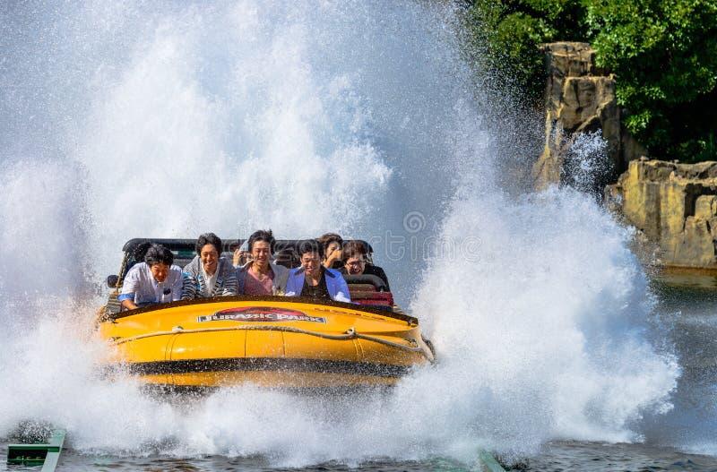 侏罗纪公园水乘驾 免版税图库摄影
