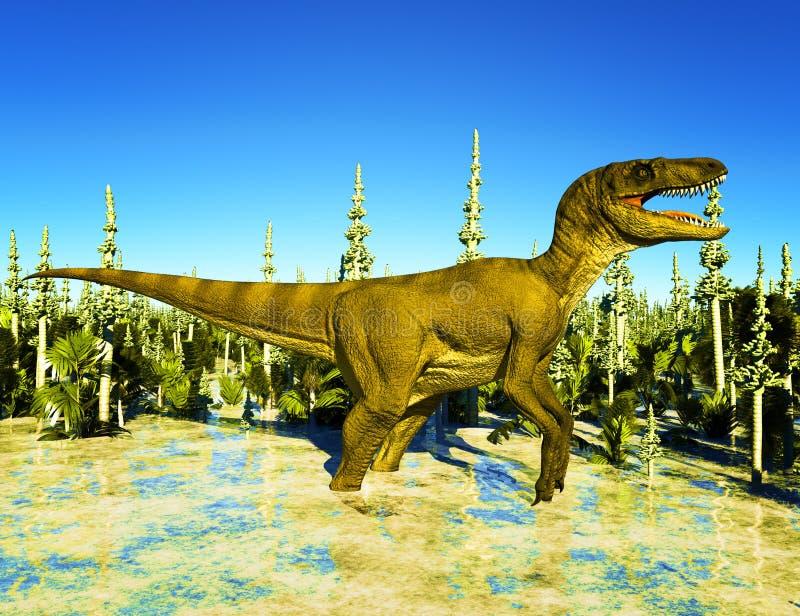 侏罗纪公园 皇族释放例证