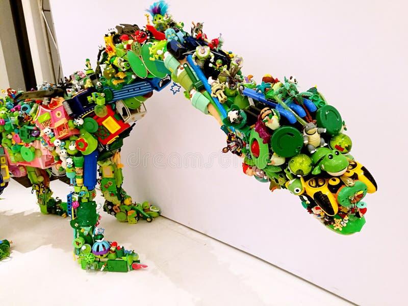 侏罗纪塑料@悉尼节日 免版税库存照片