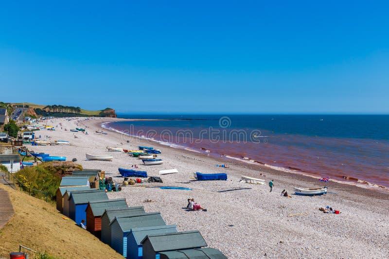 侏罗纪海岸在夏天 库存图片