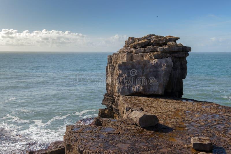 侏罗纪海岸线在多西特 图库摄影