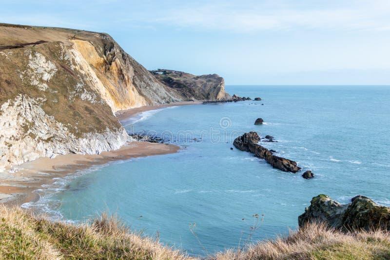 侏罗纪海岸线在多西特 库存照片