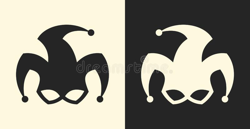 供人潮笑者或小丑标志 说笑话者标志象 向量例证