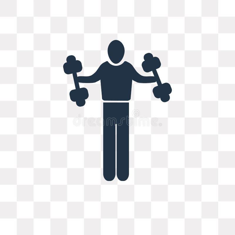 供以人员健身在透明背景隔绝的传染媒介象,人 向量例证