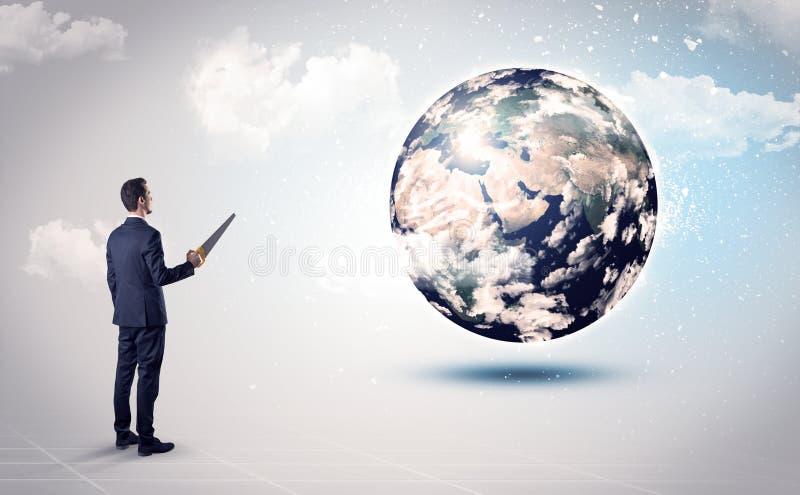 供以人员看地球地球,美国航空航天局礼貌  向量例证