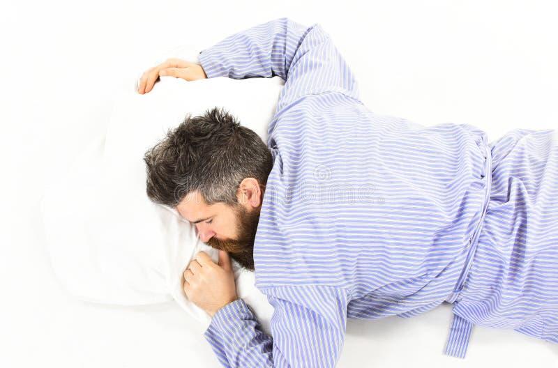 供以人员睡觉,放松,小睡,作梦,白色背景 睡觉并且放松 免版税库存图片