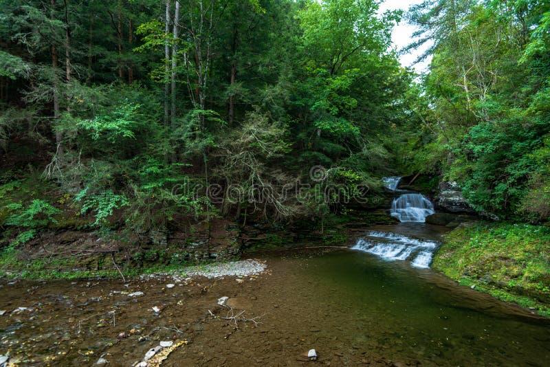 供以人员纪念密执安罗伯特美国的h灯塔 Treman国家公园:埃菲尔德秋天 免版税库存照片