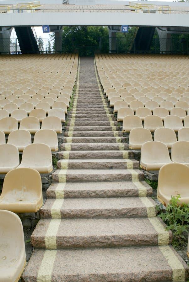 供以座位体育场 免版税图库摄影