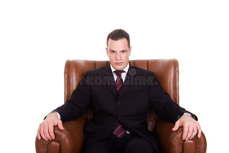 供以座位的生意人椅子 库存图片
