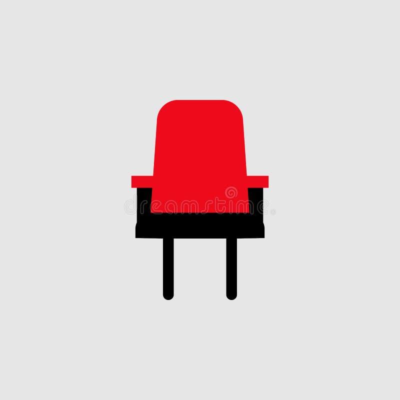 供以座位象 剧院象的元素流动概念和网应用程序的 详述的位子象可以为网和机动性使用 皇族释放例证