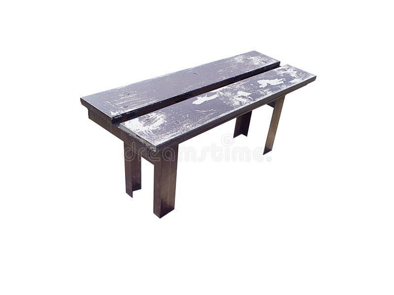 供以座位都市长凳,隔绝在白色背景 免版税图库摄影