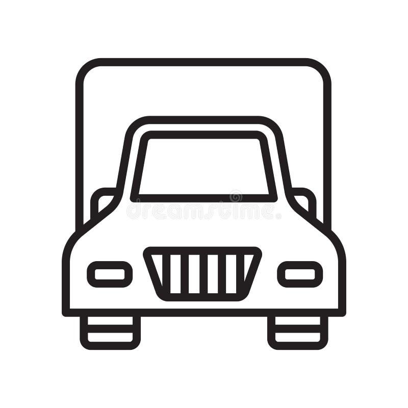 供应象在白色背景和标志隔绝的传染媒介标志,供应商标概念,概述标志,线性标志 向量例证