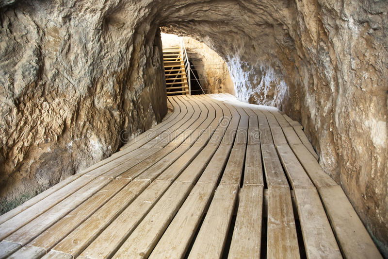 供徒步旅行的小道Caminito del Rey 马拉加省,西班牙 库存照片