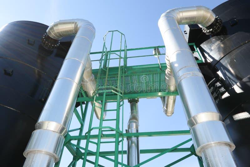 供水系统的水处理厂 库存照片