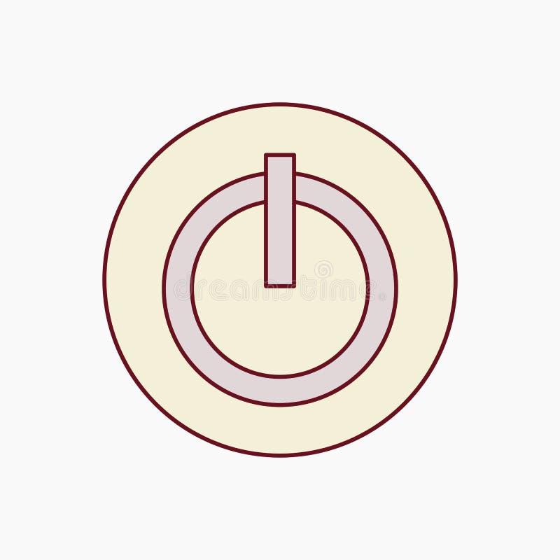 供给象在白色背景的传染媒介例证动力 力量按钮商标 标志和象传染媒介模板 向量例证